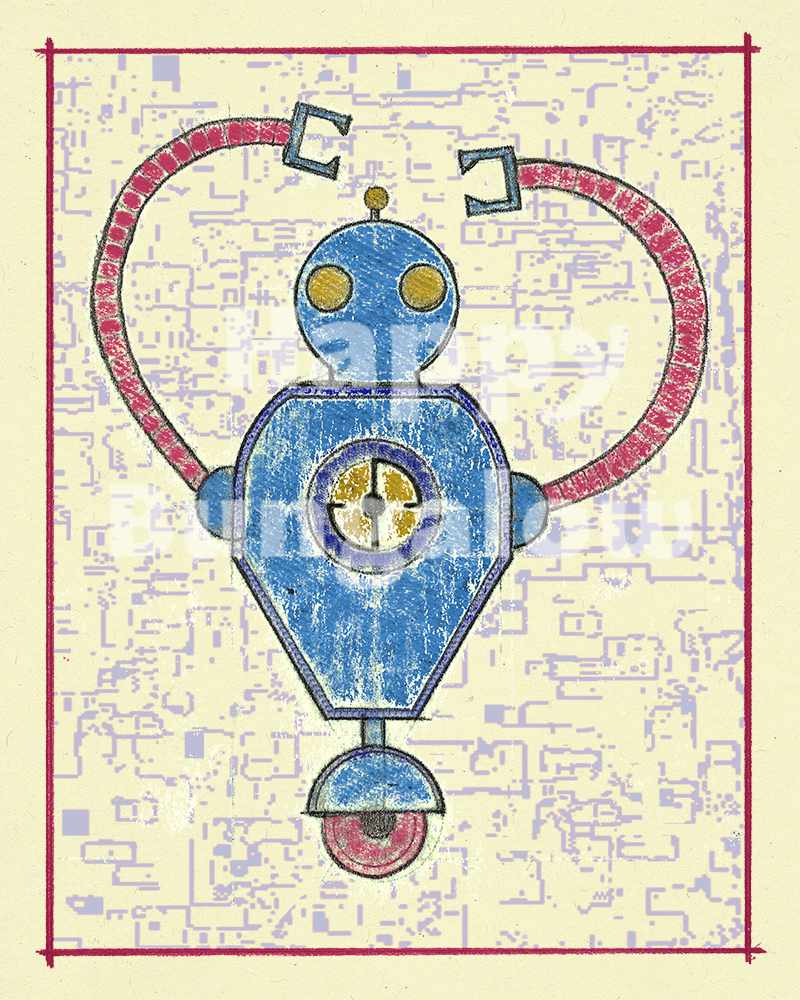 Robot Print for Kids Room