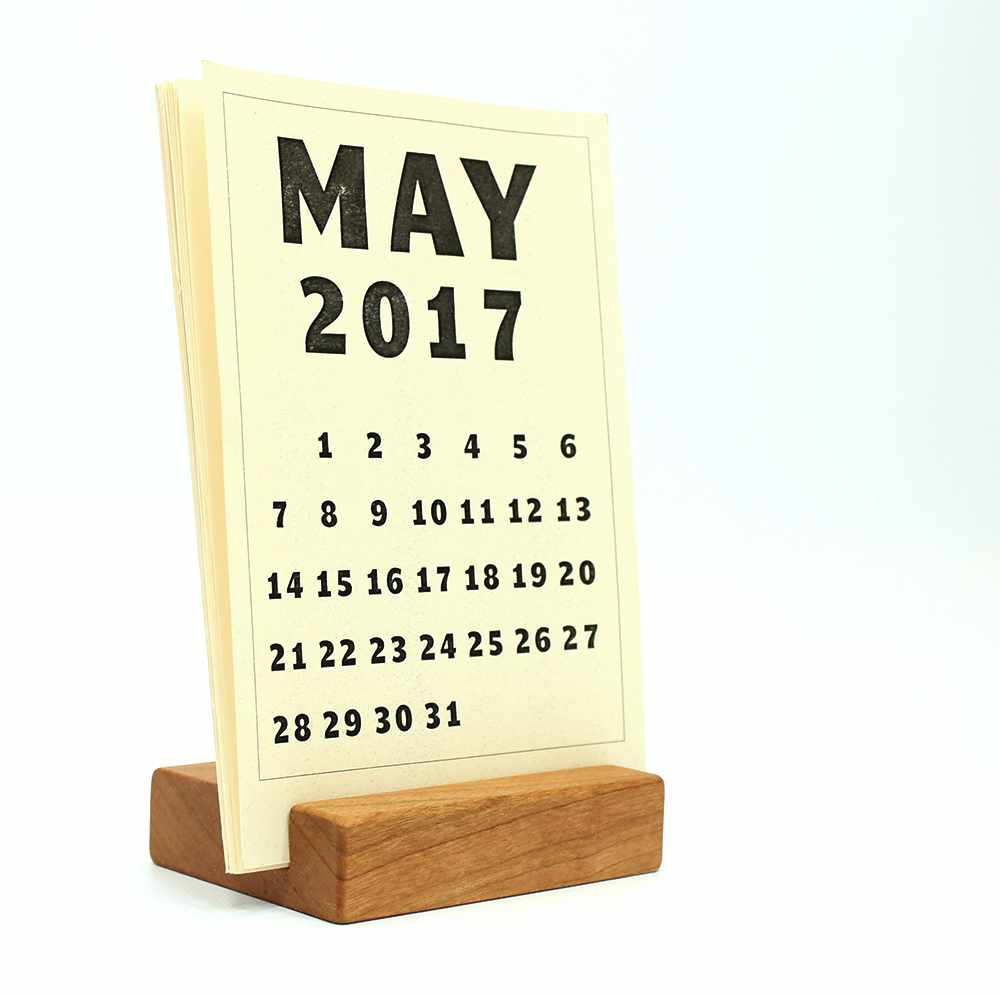 Great Wood Block Desk Calendar Stand Photo Gallery