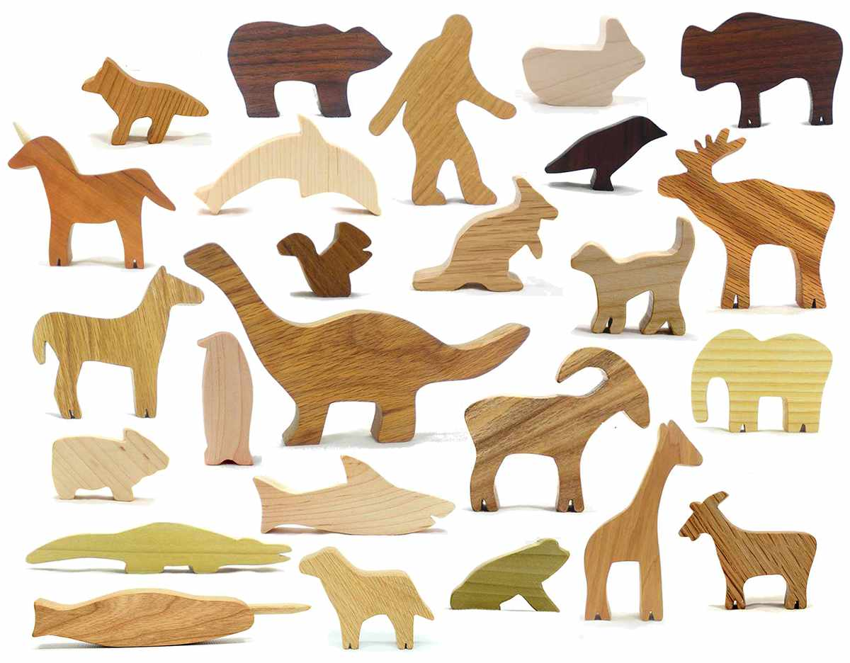 Classic Wooden Animal Toy Set