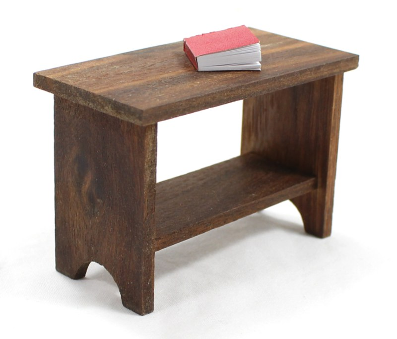 Miniature Walnut Console Table