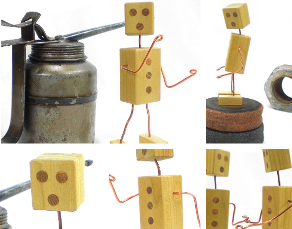Robot Fashioned from Wood and Wire - Highly Versatile Mechanical Man
