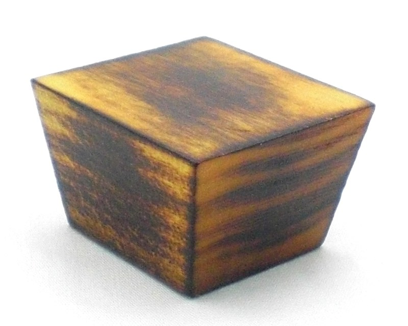 Wood Knob Finished with Fire
