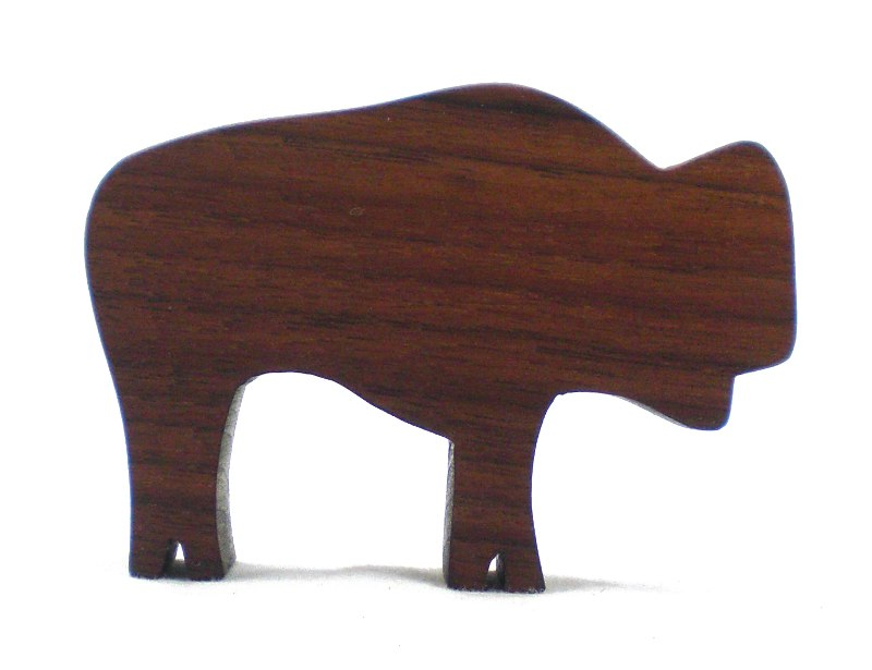 Bison Buffalo Wood Toy