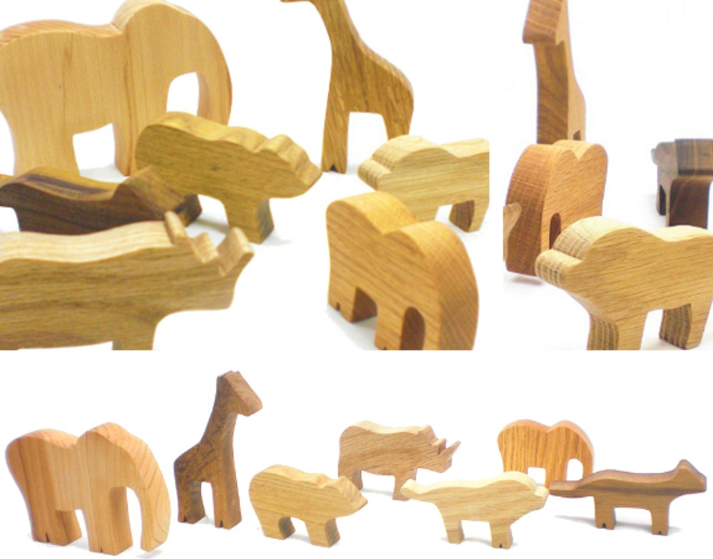 Zoo in a Bag - Wood Toy Set