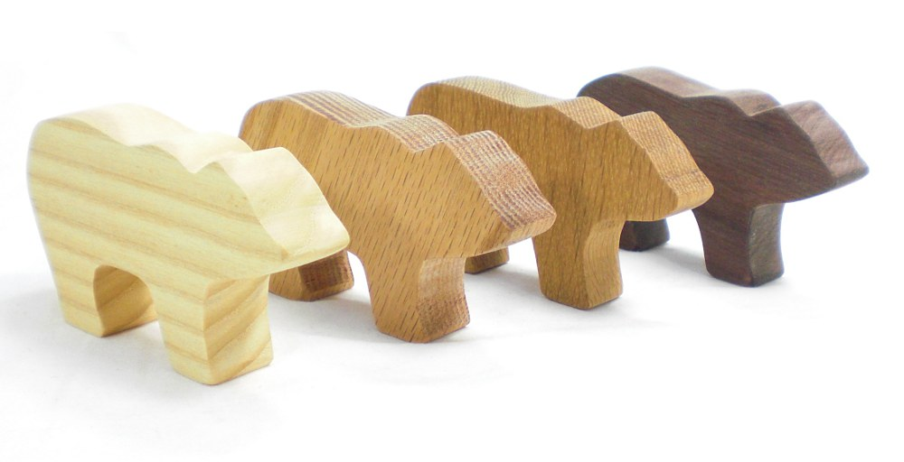 Wooden Bear Party Favor