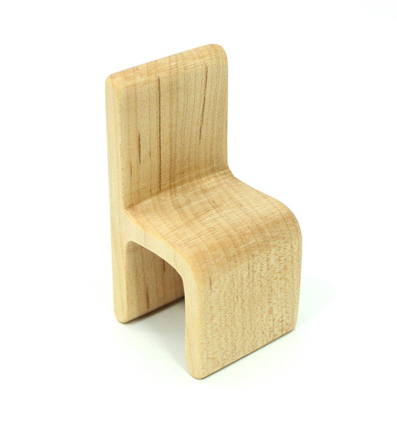 Modern Maple Wood Chair Miniature