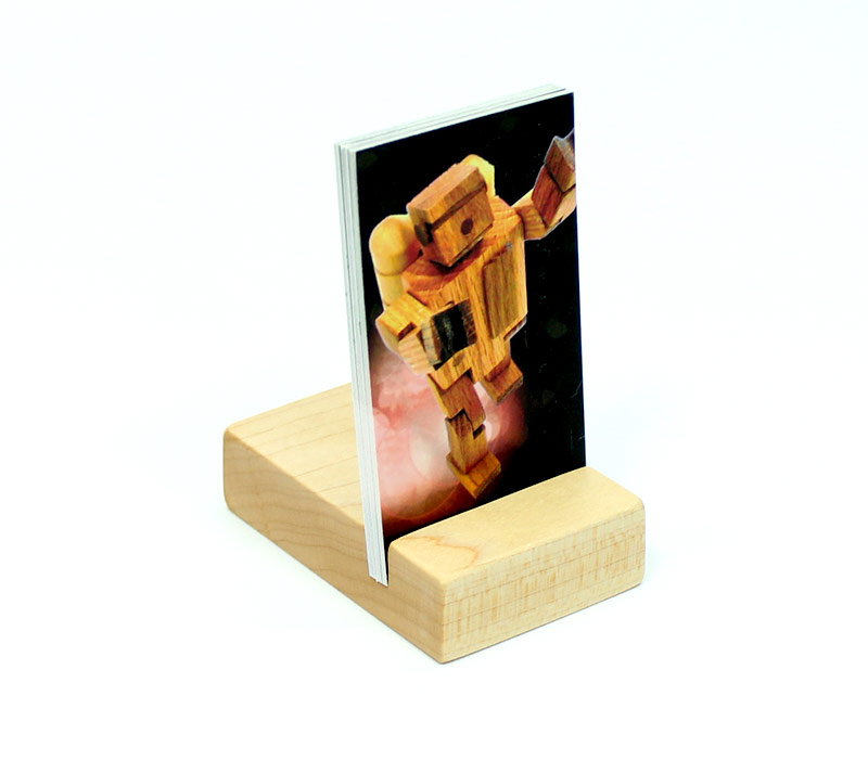 Maple Vertical Business Card Holder | Happy Bungalow