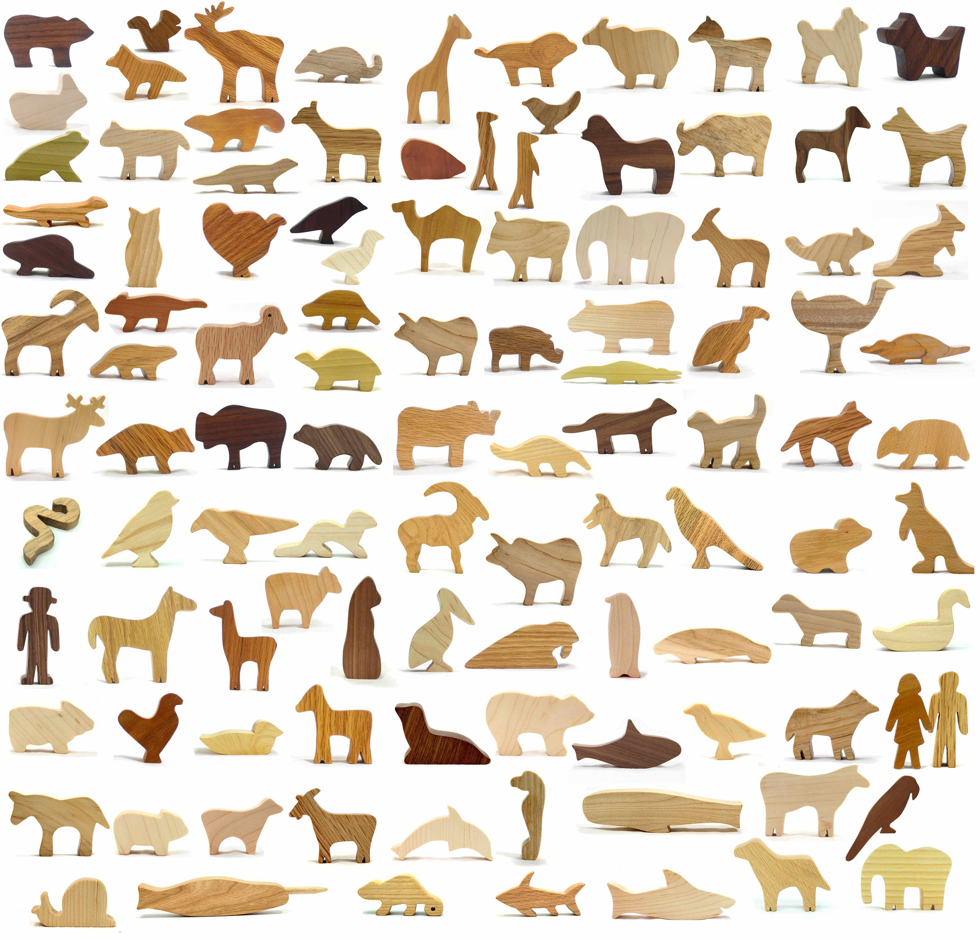 Wood Animal Toy Super Set: 108 Pieces