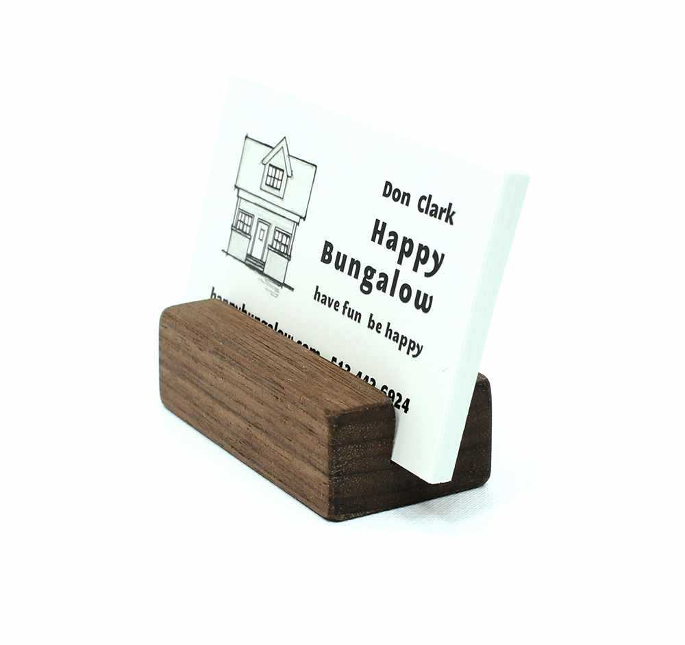 Natural walnut business card holder happy bungalow natural walnut business card holder extra capacity magicingreecefo Image collections
