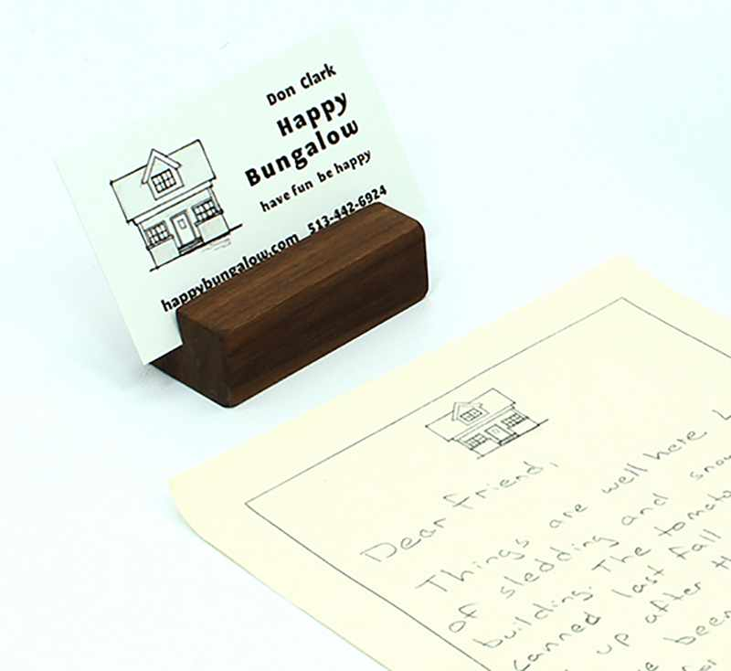 Natural Walnut Business Card Holder