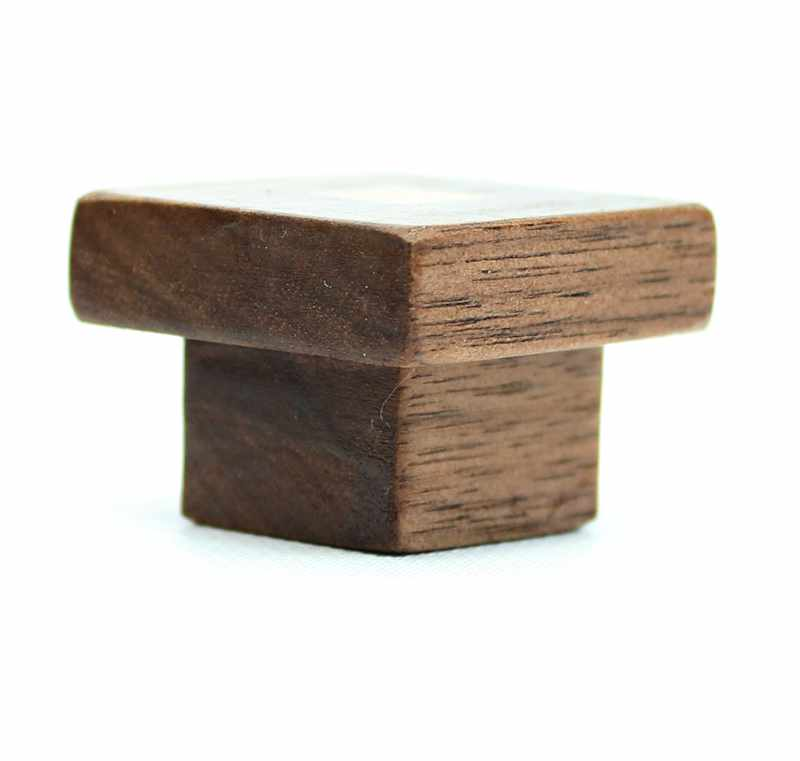 Walnut and Maple Wood Knob