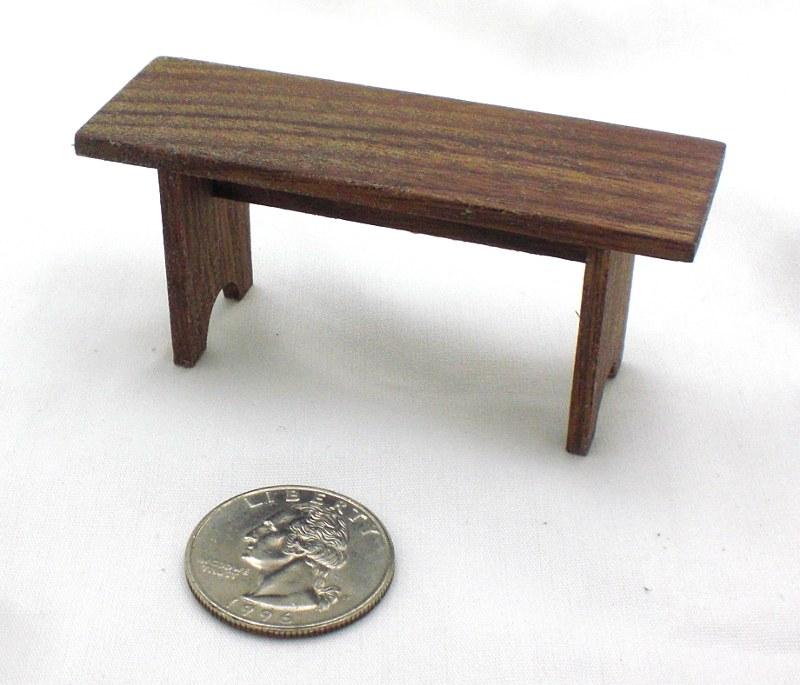 "Mini Walnut Bench 3"""