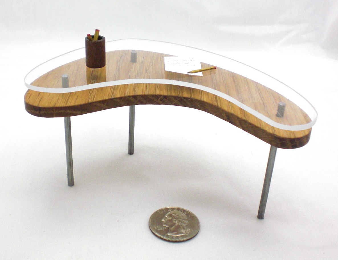 Miniature Glass Top Desk