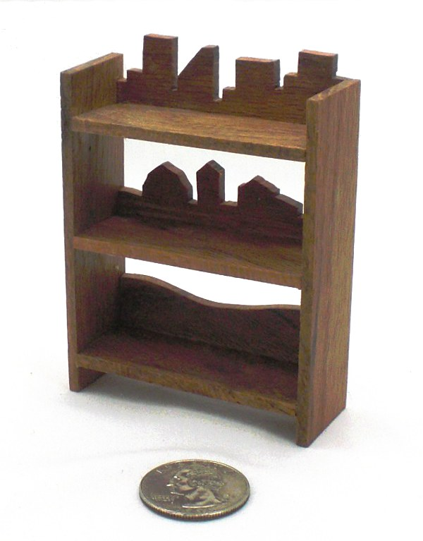 Fun Red Oak Shelves Miniature