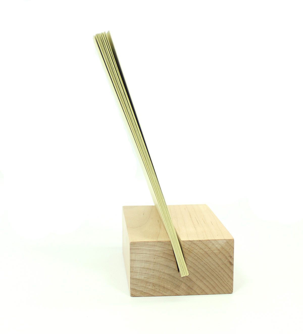 2021 Raw Wood Desk Calendar Stand