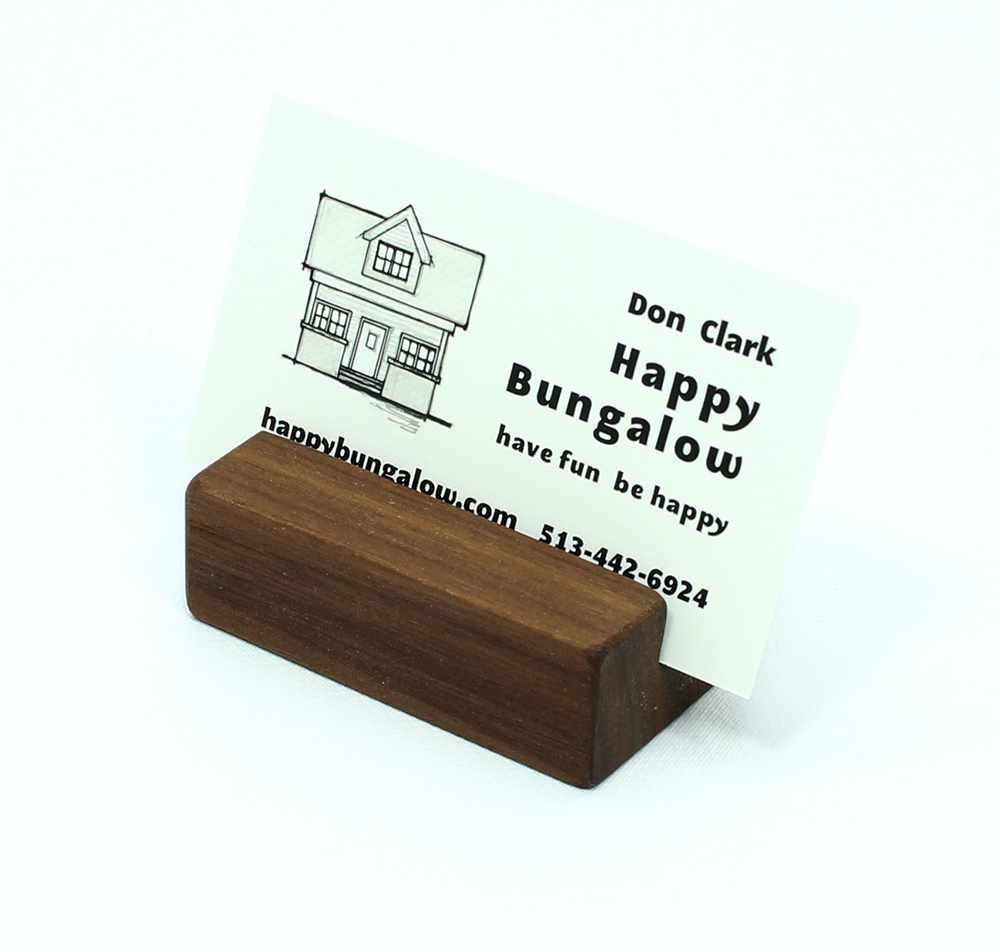 Squirrel natural poplar business card holder happy bungalow natural walnut business card holder magicingreecefo Image collections