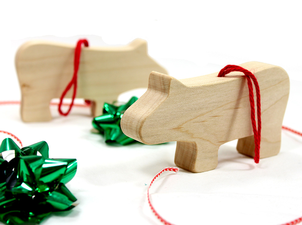 Christmas Hippo Ornament