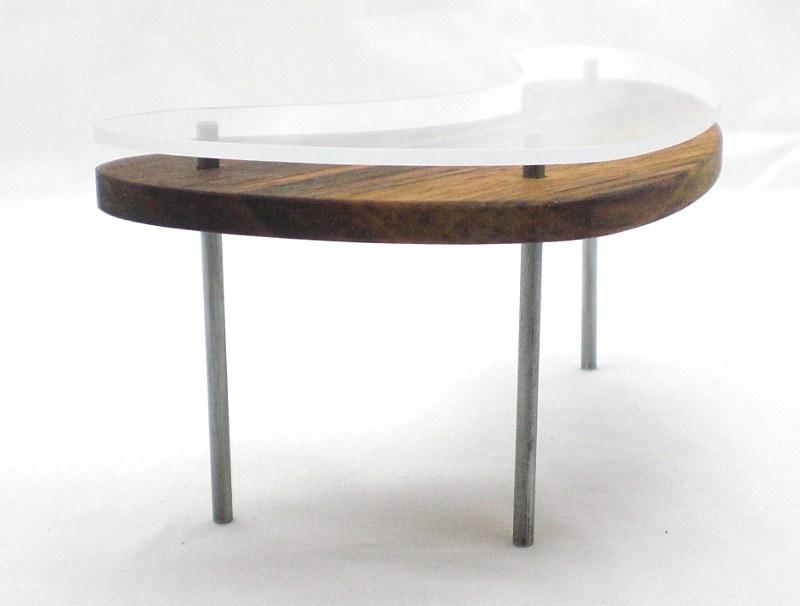 Mini Glass Top Modern Desk