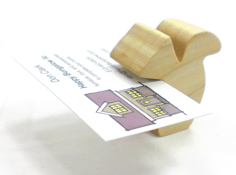 Squirrel Natural Poplar Business Card Holder