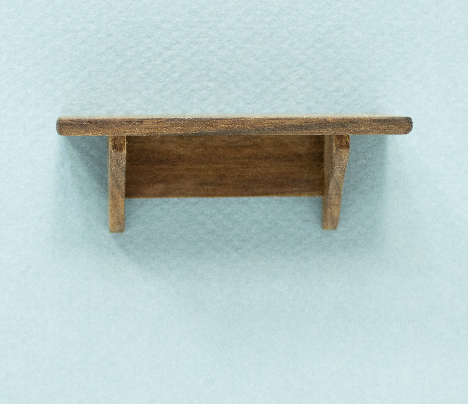Mini Walnut Short Wall Shelf
