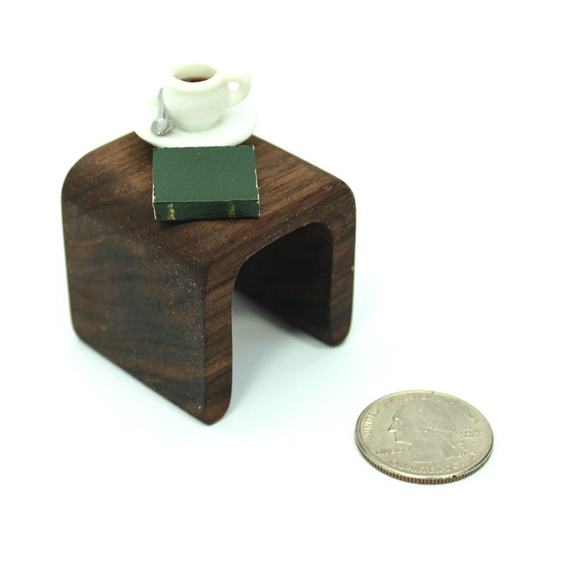 Modern Walnut End Table Mini