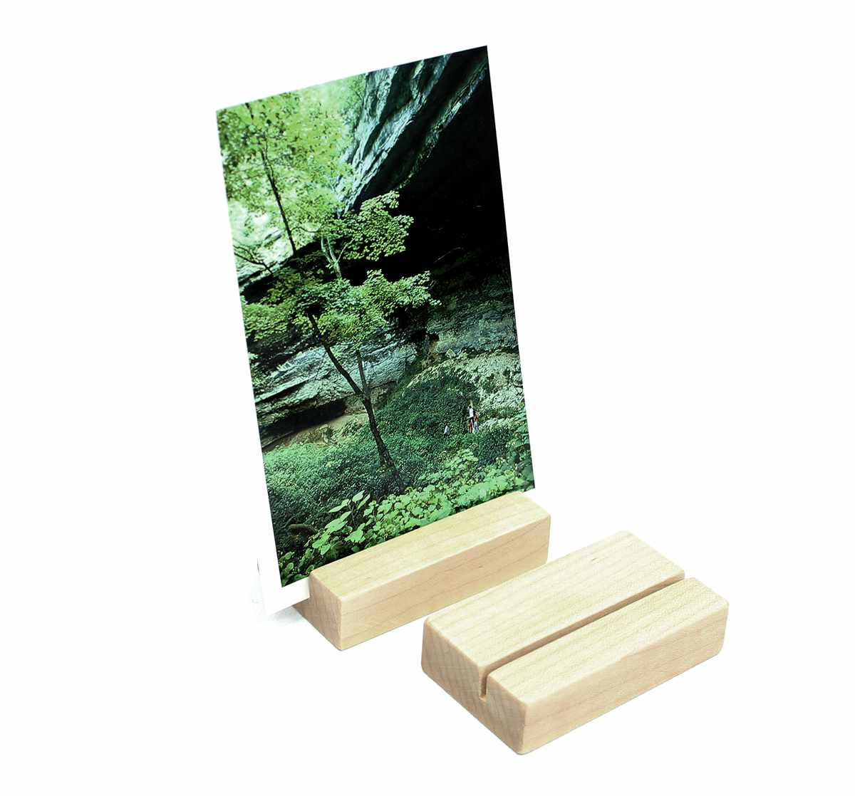 Wood Block Photo Holder
