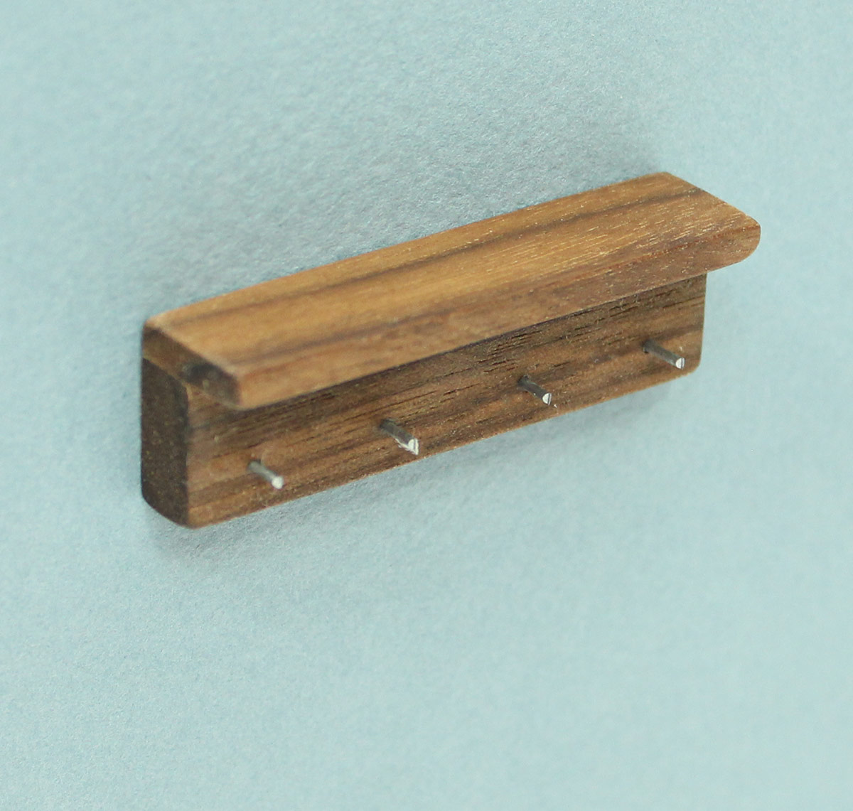 Mini Short Walnut Wall Mounted Coat Hook