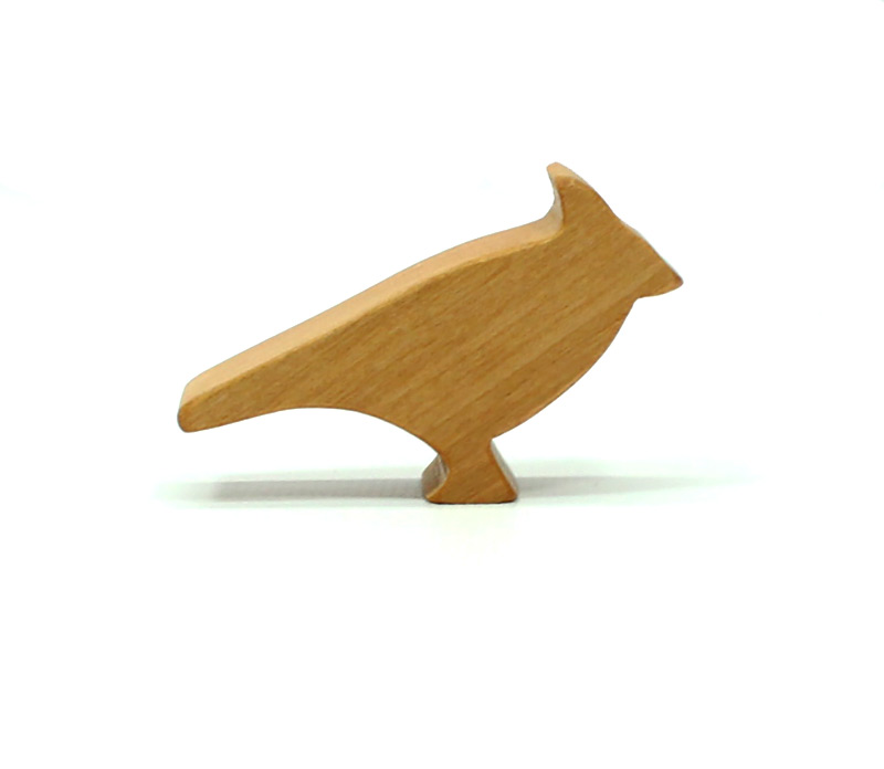 Wooden Bird Figure Cardinal