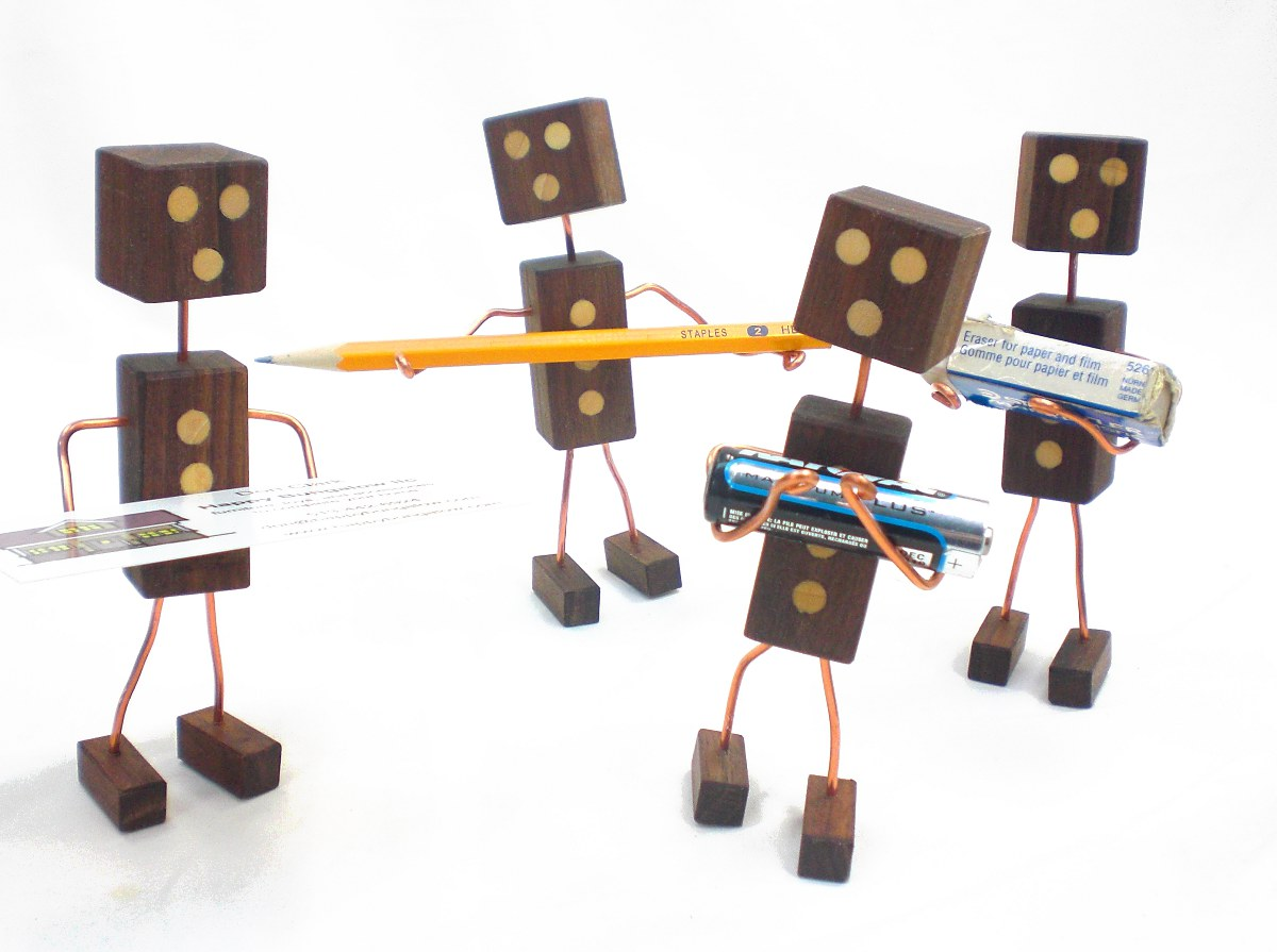 Wood and Wire Robot Programmed for Fun