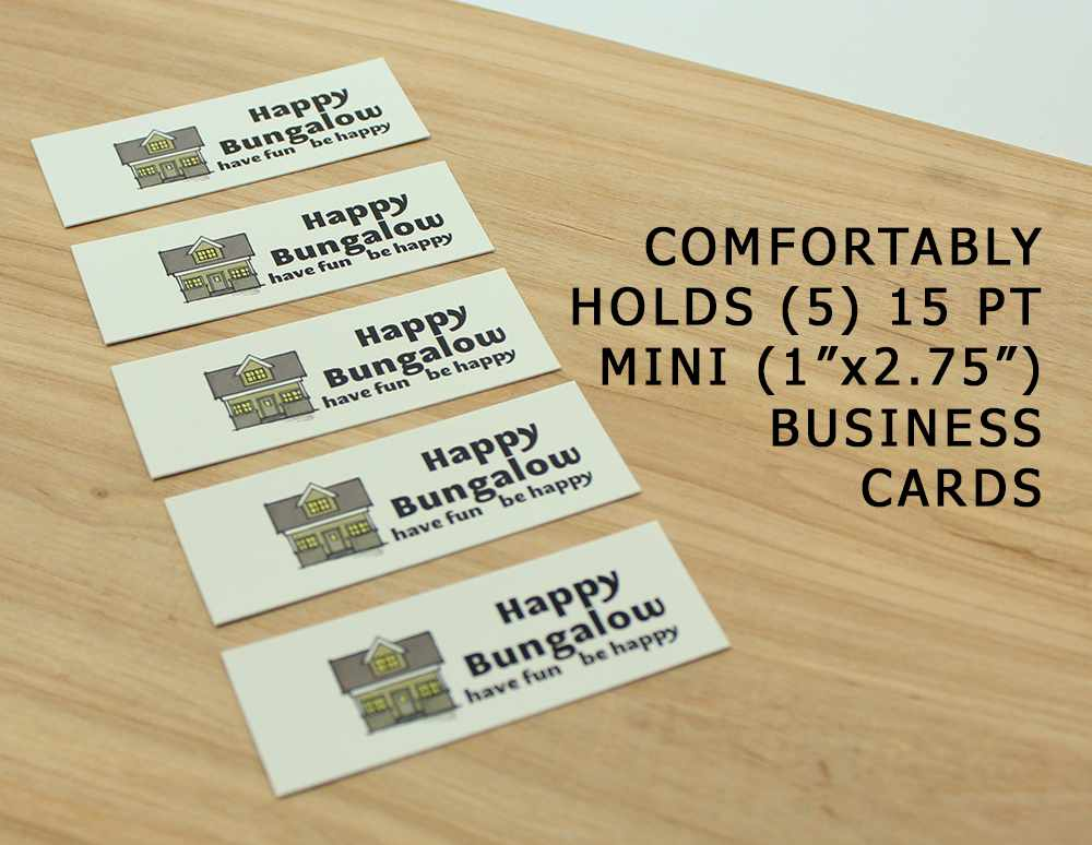 Happy bungalow tiny business card holder colourmoves