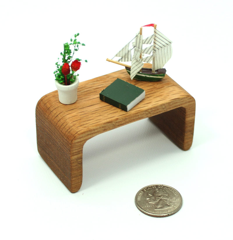 Mid Century Modern Oak Table Mini