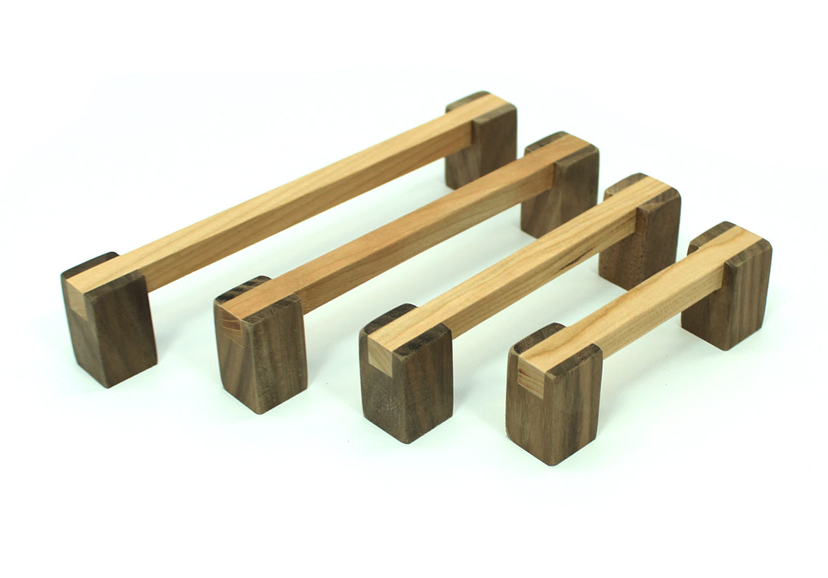 Unfinished Cherry and Walnut Wood Pull PreMade