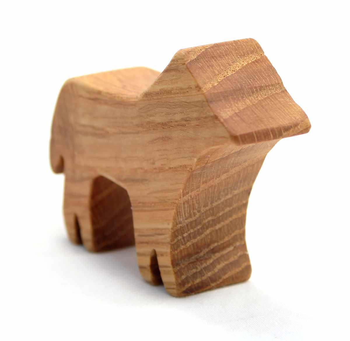 Wood Dog Toy Wolf