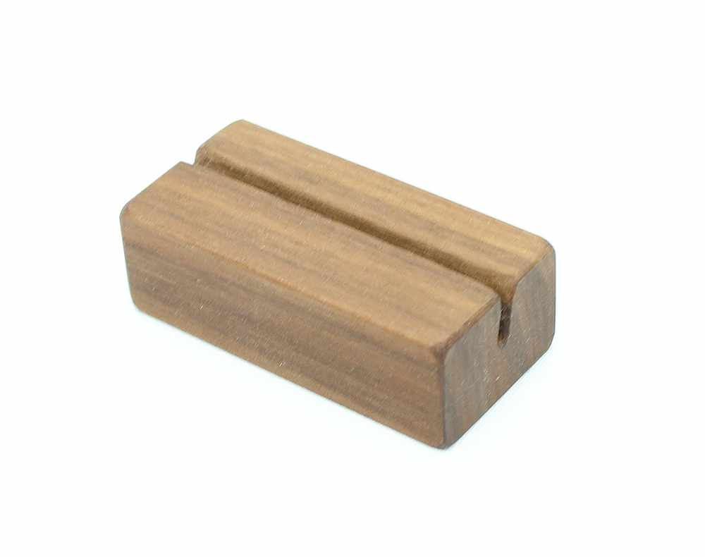 Natural Walnut Business Card Holder   Happy Bungalow
