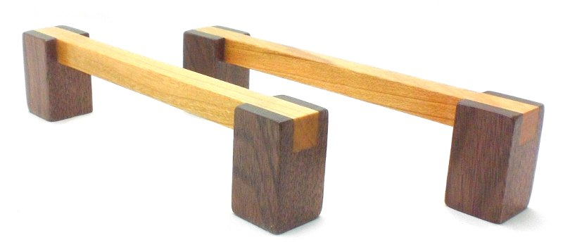 Cherry and Walnut Wood Pull