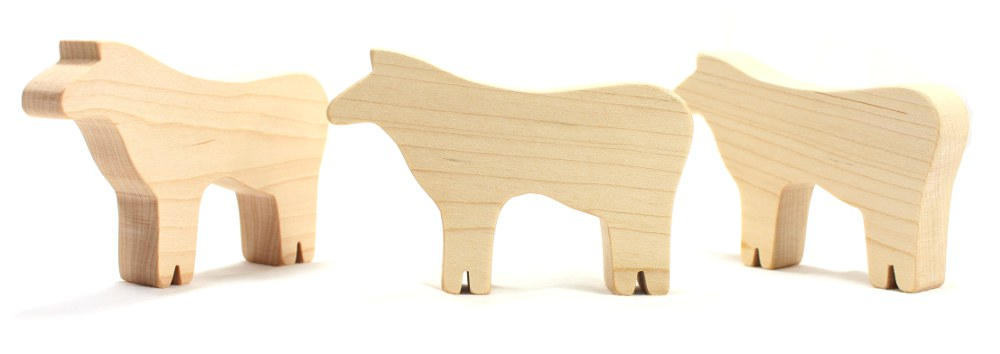 Wood Cow Toy