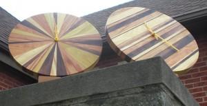 Happy Bungalow Hardwood Clocks - Five Grain and Strip