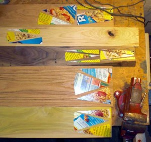 Happy Bungalow Wood Clock Process 02 Template Layout On Wood