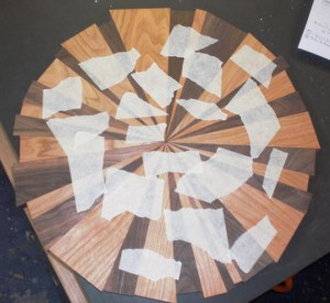 Happy Bungalow Wood Clock Process 06 Walnut Cherry Dryfit Layout