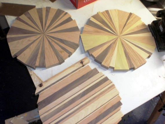Happy Bungalow Wood Clock Process 10 Wood Clocks Post Sanding