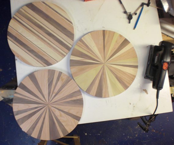 Happy Bungalow Wood Clock Process 11 Wood Clocks Cut To Circles