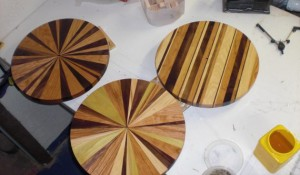 Happy Bungalow Wood Clock Process 13 Finished With Tung Oil
