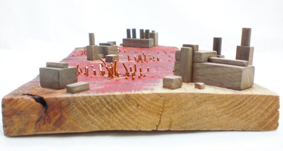 Happy-Bungalow-Abasement-wood-sculpture-storytelling-wood-copper-wax-alt002-570