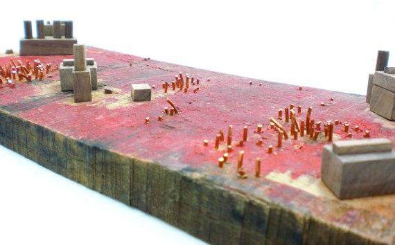 Happy-Bungalow-Abasement-wood-sculpture-storytelling-wood-copper-wax-alt003-570
