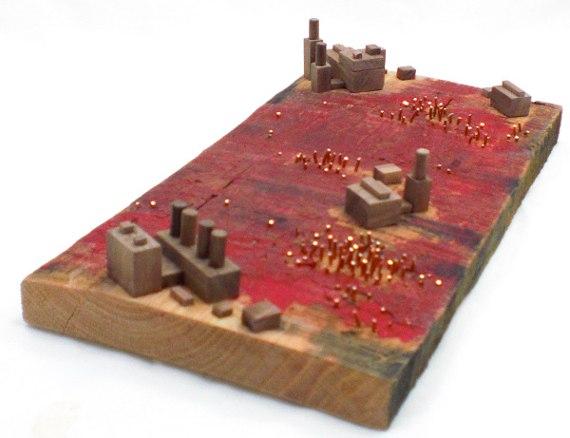 Happy-Bungalow-Abasement-wood-sculpture-storytelling-wood-copper-wax-alt004-570