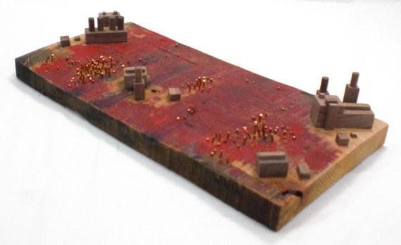 Happy-Bungalow-Abasement-wood-sculpture-storytelling-wood-copper-wax-alt006-570