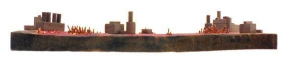 Happy-Bungalow-Abasement-wood-sculpture-storytelling-wood-copper-wax-alt007-570
