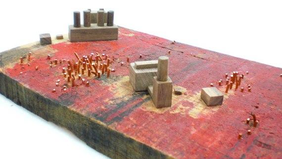 Happy-Bungalow-Abasement-wood-sculpture-storytelling-wood-copper-wax-alt008-570
