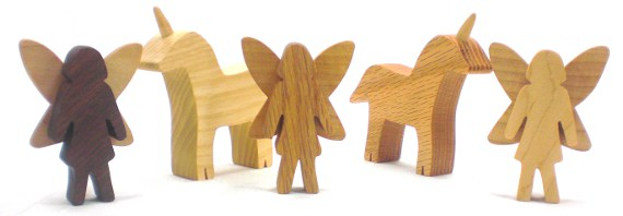 Happy-Bungalow-nautral-wood-toy-beeswax-fairy-faerie-fairies-mythical-unicorn-ASH-MAPLE-RED-OAK-WALNUT-alt001-570