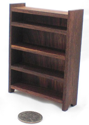 Happy-Bungalow-Wood-Dollhouse-Furniture-1-12-Scale-Walnut-Tall-Bookcase-alt003a-300